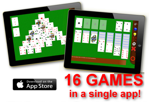 16 Solitaire Games in a single iPad app!